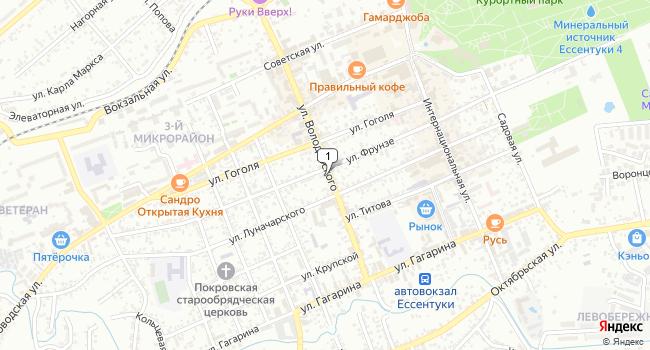 Арендовать коммерческую недвижимость 160 м<sup>2</sup> в Ессентуках по адресу Россия, Ставропольский край, Ессентуки, улица Володарского, 44