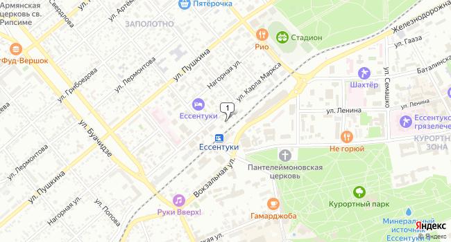 Арендовать офис 97 м<sup>2</sup> в Ессентуках по адресу Россия, Ставропольский край, Ессентуки, улица Карла Маркса, 3