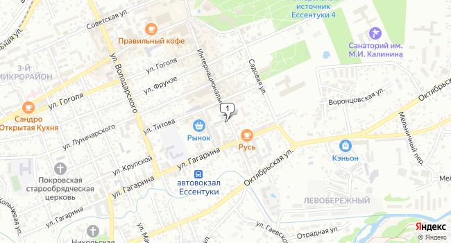 Арендовать офис 82 м<sup>2</sup> в Ессентуках по адресу Россия, Ставропольский край, Ессентуки, Интернациональная улица, 52
