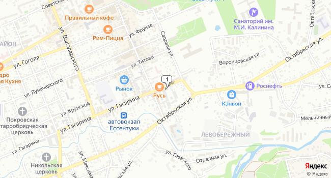 Купить коммерческую недвижимость 3575 м<sup>2</sup> в Ессентуках по адресу Россия, Ставропольский край, Ессентуки, улица Гагарина, 13