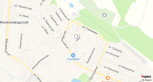 Купить офис 20 м<sup>2</sup> в Железноводске по адресу Россия, Ставропольский край, Железноводск, Октябрьская улица, 96А