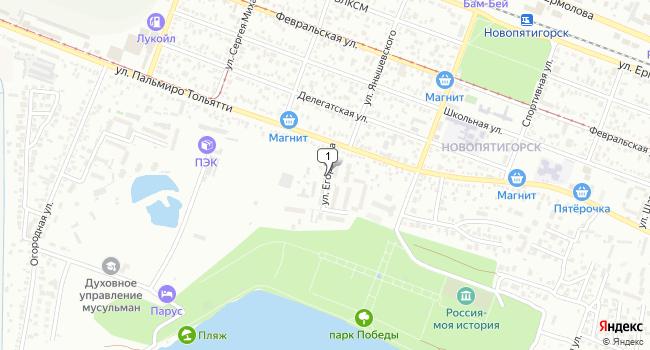 Арендовать офис 40 м<sup>2</sup> в Пятигорске по адресу Россия, Ставропольский край, Пятигорск, улица Егоршина