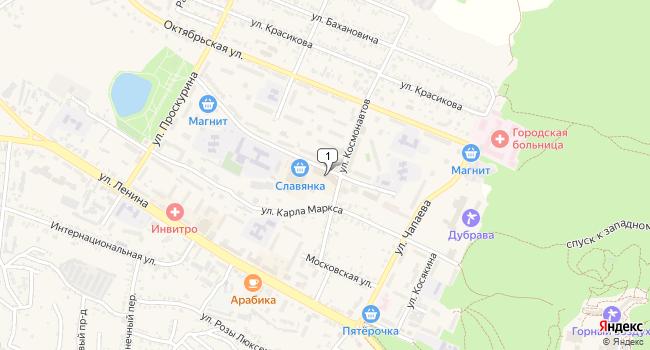 Купить торговую площадь 17 м<sup>2</sup> в Железноводске по адресу Россия, Ставропольский край, Железноводск, улица Энгельса, 21