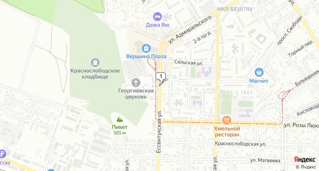 Арендовать офис 24 м<sup>2</sup> в Пятигорске по адресу Россия, Ставропольский край, Пятигорск, Ессентукская улица