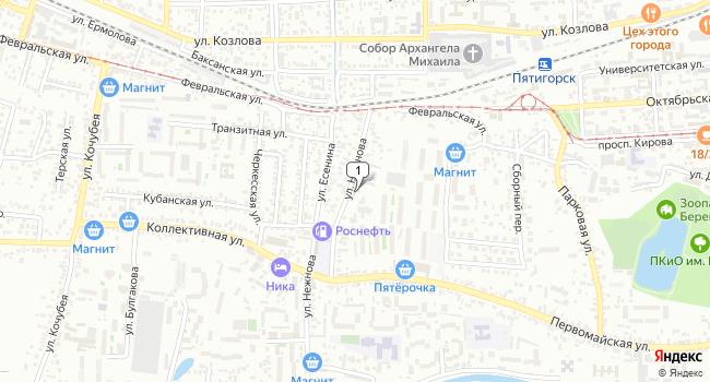 Арендовать офис 40 м<sup>2</sup> в Пятигорске по адресу Россия, Ставропольский край, Пятигорск, улица Нежнова, 21