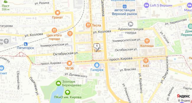 Арендовать офис 135 м<sup>2</sup> в Пятигорске по адресу Россия, Ставропольский край, Пятигорск, Октябрьская улица