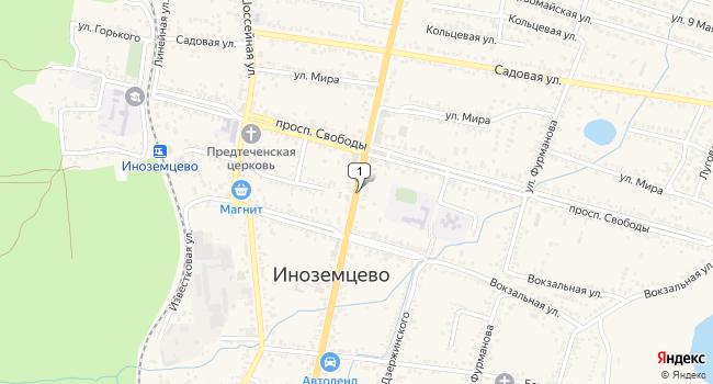 Купить земельный участок 800 м<sup>2</sup> в Железноводске по адресу Россия, Ставропольский край, поселок городского типа Иноземцево, улица Гагарина