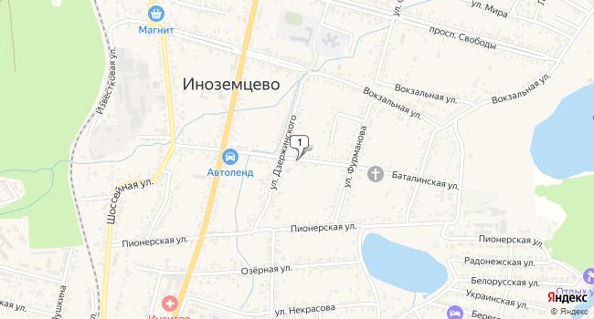Купить земельный участок 800 м<sup>2</sup> в Железноводске по адресу Россия, Ставропольский край, поселок городского типа Иноземцево, Баталинская улица