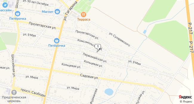 Купить земельный участок 500 м<sup>2</sup> в посёлке ского типа Иноземцево по адресу Россия, Ставропольский край, поселок городского типа Иноземцево, улица 9 Мая