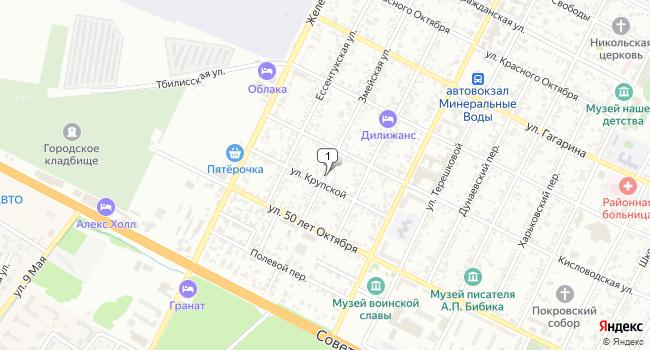 Купить земельный участок 500 м<sup>2</sup> в Минеральных Водах по адресу Россия, Ставропольский край, Минеральные Воды, Змейская улица
