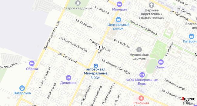 Купить земельный участок 1400 м<sup>2</sup> в Минеральных Водах по адресу Россия, Ставропольский край, Минеральные Воды, Ставропольская улица, 27А