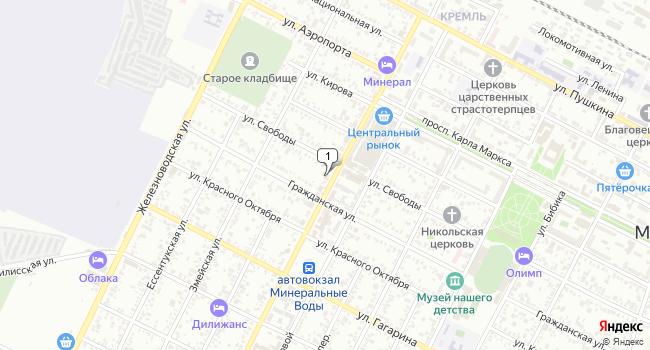 Арендовать торговую площадь 52 м<sup>2</sup> в Минеральных Водах по адресу Россия, Ставропольский край, Минеральные Воды, Ставропольская улица, 52
