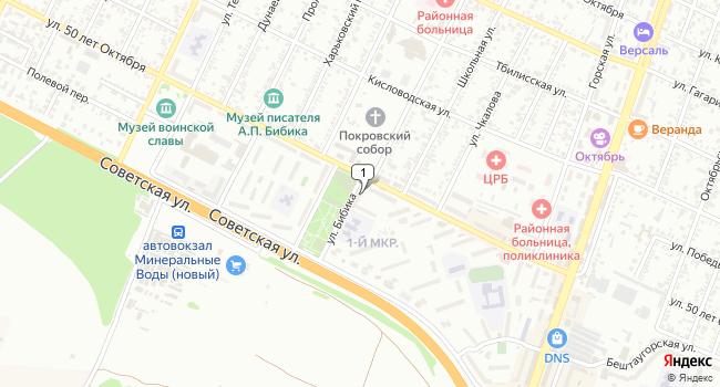 Купить торговую площадь 111 м<sup>2</sup> в Минеральных Водах по адресу Россия, Ставропольский край, Минеральные Воды, улица 50 лет Октября, 53