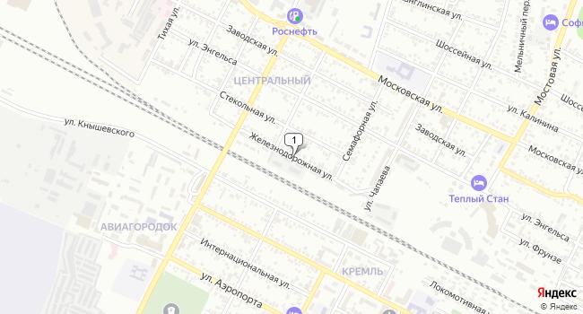 Купить земельный участок 400 м<sup>2</sup> в Минеральных Водах по адресу Россия, Ставропольский край, Минеральные Воды, Железнодорожная улица