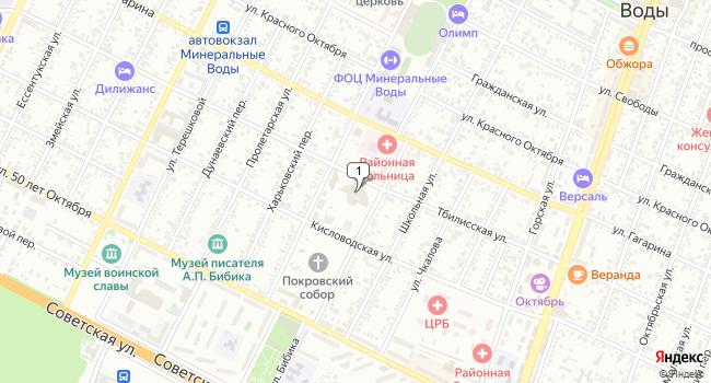 Купить торговую площадь 8792 м<sup>2</sup> в Минеральных Водах по адресу Россия, Ставропольский край, Минеральные Воды, Тбилисская улица, 57А