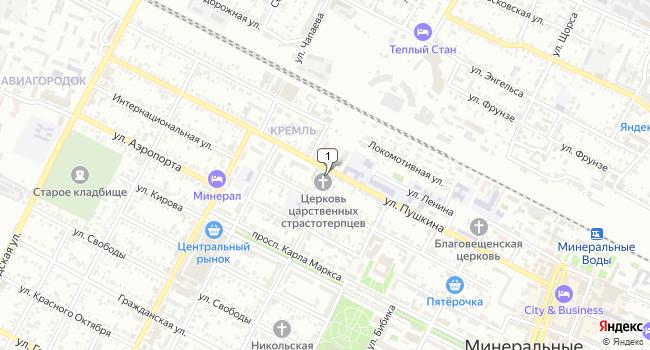 Купить земельный участок 500 м<sup>2</sup> в Минеральных Водах по адресу Россия, Ставропольский край, Минеральные Воды, Пролетарская улица, 2