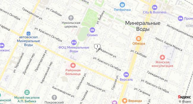 Купить земельный участок 600 м<sup>2</sup> в Минеральных Водах по адресу Россия, Ставропольский край, Минеральные Воды, Школьная улица