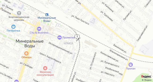 Купить земельный участок 600 м<sup>2</sup> в Минеральных Водах по адресу Россия, Ставропольский край, Минеральные Воды, улица Ленина, 1