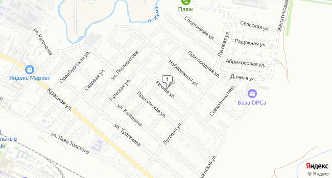 Купить земельный участок 500 м<sup>2</sup> в Минеральных Водах по адресу Россия, Ставропольский край, Минеральные Воды, Речная улица