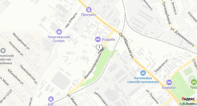 Купить производственное помещение 1187 м<sup>2</sup> в Георгиевске по адресу Россия, Ставропольский край, Георгиевск, Минераловодский переулок, 6