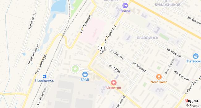 Арендовать торговую площадь 68 м<sup>2</sup> в Балахне по адресу Россия, Нижегородская область, Балахна, улица Горького, 28
