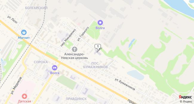 Купить торговую площадь 3880 м<sup>2</sup> в Балахне по адресу Россия, Нижегородская область, Балахна, Правдинская улица, 1