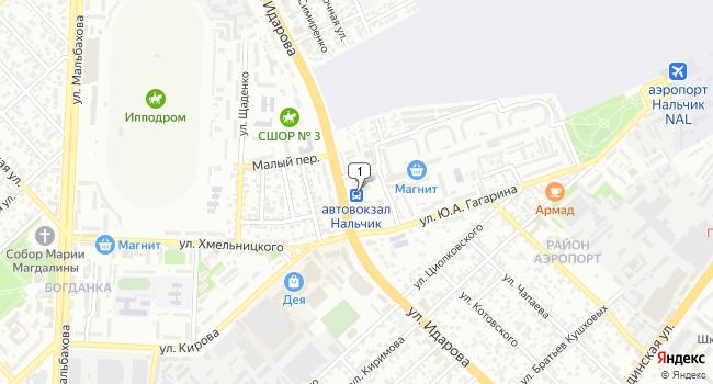 Арендовать коммерческую недвижимость 335 м<sup>2</sup> в Нальчике по адресу Россия, Кабардино-Балкарская Республика, Нальчик, улица Идарова, 124