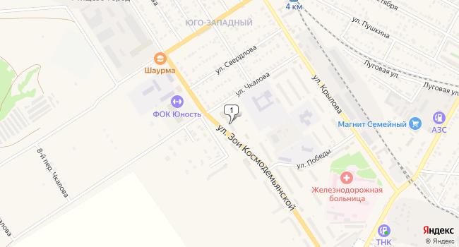 Купить торговую площадь 460 м<sup>2</sup> в Ртищево по адресу Россия, Саратовская область, Ртищево, улица Зои Космодемьянской, 16