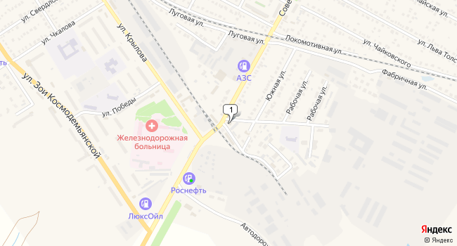 Арендовать торговую площадь 500 м<sup>2</sup> в Ртищево по адресу Россия, Саратовская область, Ртищево, Советская улица, 141