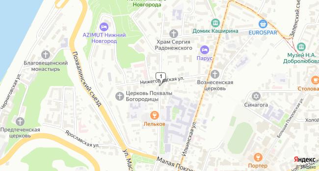 Арендовать офис 102 м<sup>2</sup> в Нижнес Новгороде по адресу Россия, Нижний Новгород, улица Гоголя