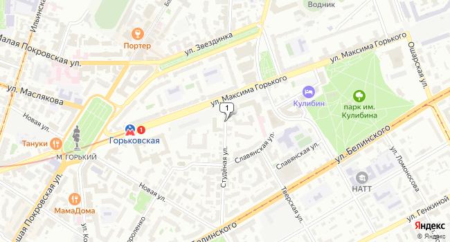 Арендовать офис 600 м<sup>2</sup> в Нижнес Новгороде по адресу Россия, Нижний Новгород, Студёная улица