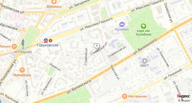 Арендовать офис 500 м<sup>2</sup> в Нижнес Новгороде по адресу Россия, Нижний Новгород, Славянская улица