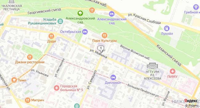 Арендовать офис 151.1 м<sup>2</sup> в Нижнес Новгороде по адресу Россия, Нижний Новгород, улица Минина