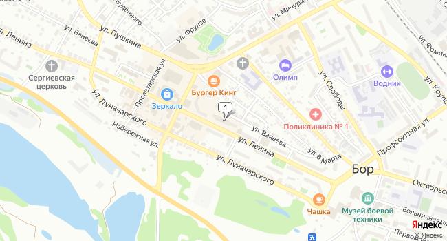 Арендовать коммерческую недвижимость 59 м<sup>2</sup> в Боре по адресу Россия, Нижегородская область, Бор, улица Ленина, 133
