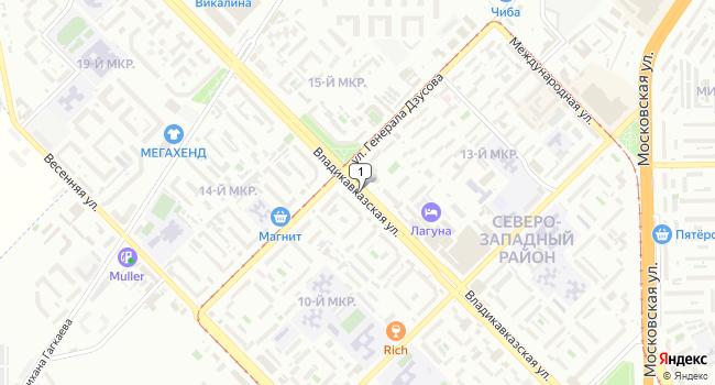 Купить земельный участок 400 м<sup>2</sup> в Владикавказе по адресу Россия, Республика Северная Осетия-Алания, Владикавказ, Владикавказская улица