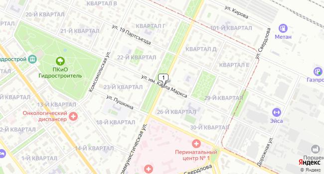 Купить офис 27 м<sup>2</sup> в Волжском по адресу Россия, Волгоградская область, Волжский, Коммунистическая улица