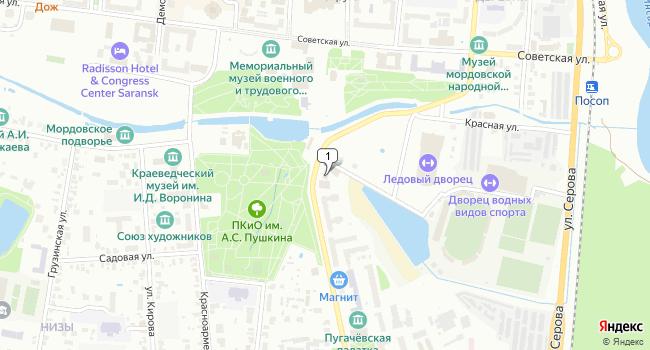 Купить офис 1143 м<sup>2</sup> в Саранске по адресу Россия, Республика Мордовия, Саранск, Московская улица, 14