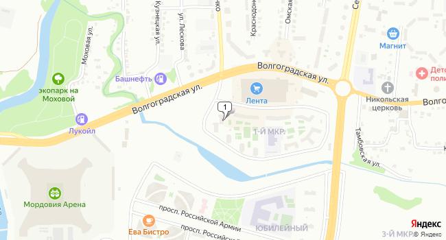 Арендовать торговую площадь 370 м<sup>2</sup> в Саранске по адресу Россия, Республика Мордовия, Саранск, Волгоградская улица, 73