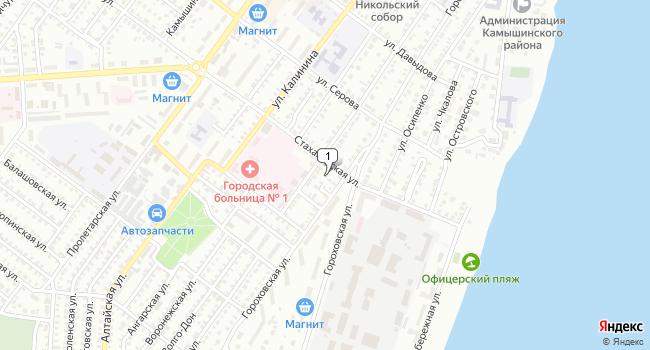 Арендовать офис 290 м<sup>2</sup> в Камышине по адресу Россия, Волгоградская область, Камышин, Гороховский переулок, 1