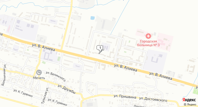 Купить коммерческую недвижимость 400 м<sup>2</sup> в Грозном по адресу Россия, Чеченская Республика, Грозный, городок Маяковского, 136