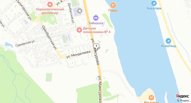 Купить торговую площадь 56 м<sup>2</sup> в Грозном по адресу Россия, Чеченская Республика, Грозный, улица Мамсурова