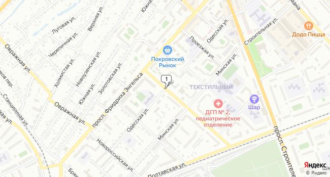 Купить торговую площадь 52 м<sup>2</sup> в Энгельсе по адресу Россия, Саратовская область, Энгельс, Одесская улица