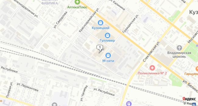 Купить торговую площадь 11105 м<sup>2</sup> в Кузнецке по адресу Россия, Пензенская область, Кузнецк, Гражданская улица, 85