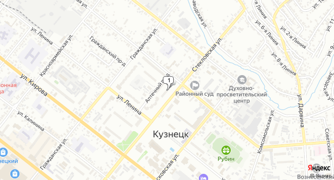 Купить коммерческую недвижимость 357 м<sup>2</sup> в Кузнецке по адресу Россия, Пензенская область, Кузнецк, Стекловская улица, 52