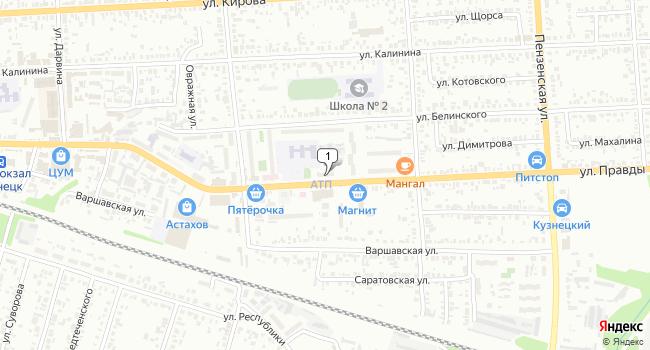 Купить офис 633 м<sup>2</sup> в Кузнецке по адресу Россия, Пензенская область, Кузнецк, улица Правды, 23