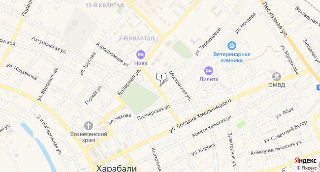 Купить торговую площадь 160 м<sup>2</sup> в Харабалях по адресу Россия, Астраханская область, Харабали, Аэродромная улица, 2