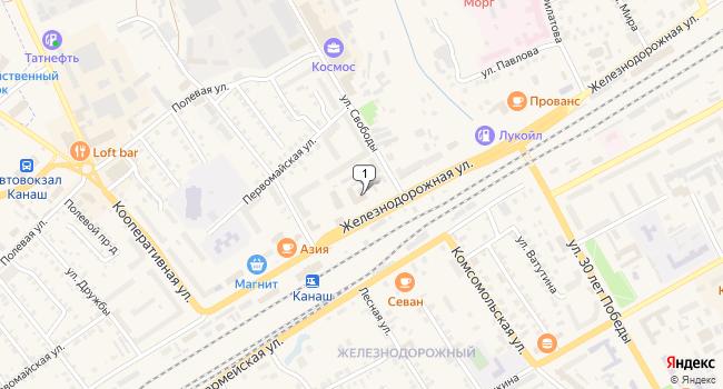 Купить коммерческую недвижимость 1676 м<sup>2</sup> в Канаше по адресу Россия, Чувашская Республика, Канаш, Железнодорожная улица, 87