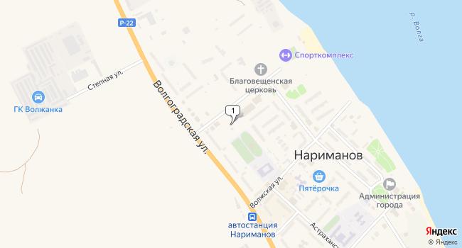 Купить торговую площадь 685 м<sup>2</sup> в Нариманове по адресу Россия, Астраханская область, Нариманов, проспект Строителей, 9