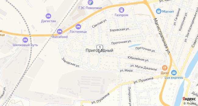 Купить земельный участок 8400 м<sup>2</sup> в Нариманове по адресу Россия, Астраханская область, Наримановский район, поселок Пригородный