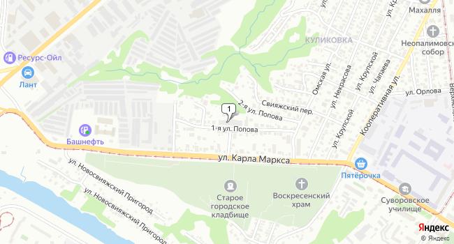 Арендовать производственное помещение 800 м<sup>2</sup> в Ульяновске по адресу Россия, Ульяновск, 1-я улица Попова, 18
